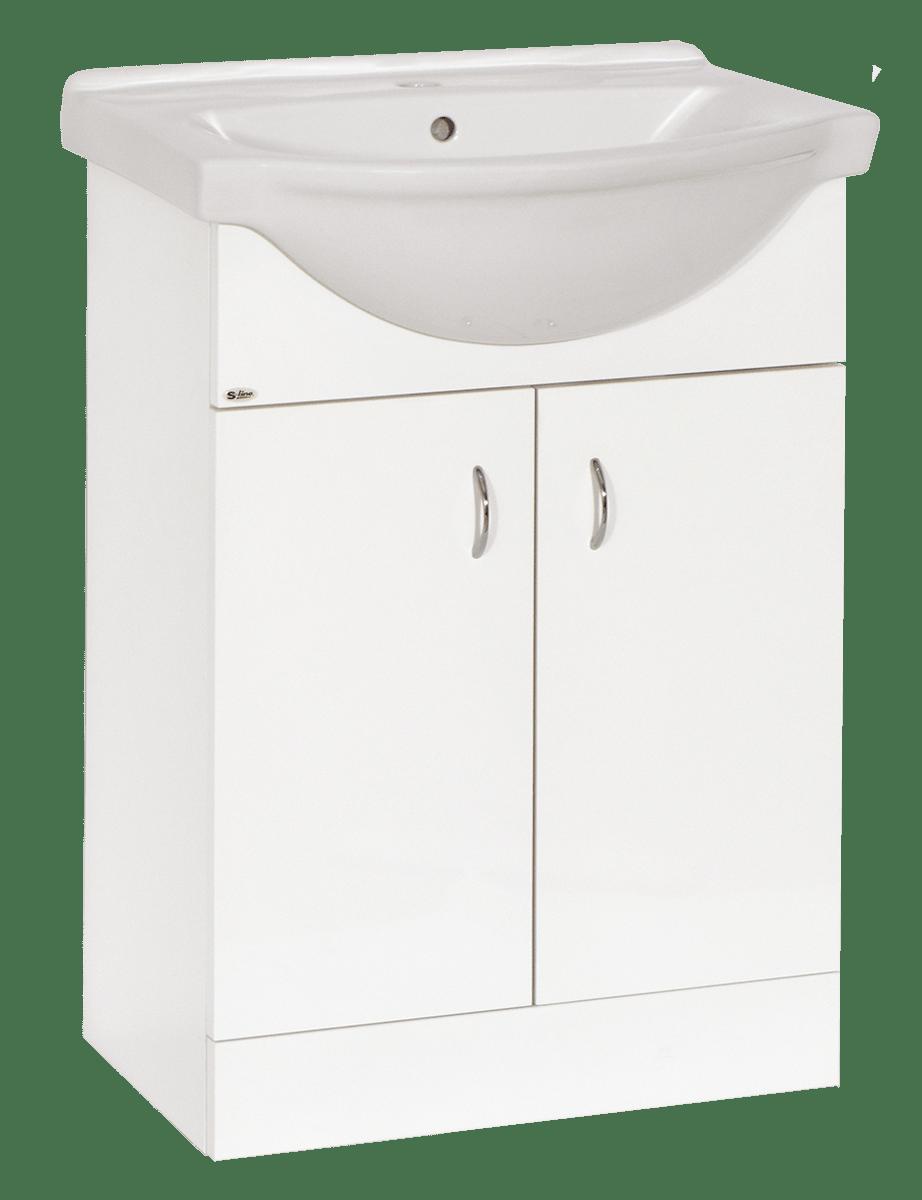 Kúpeľňová skrinka s umývadlom Multi Pro 61x50 cm biela PRO60SOKL