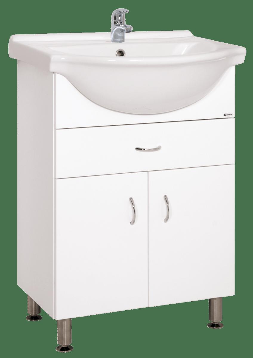 Kúpeľňová skrinka s umývadlom Keramia Pro 60x50 cm biela PRO60Z