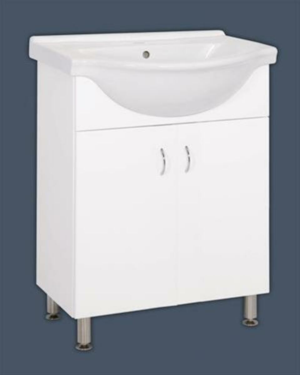 Kúpeľňová skrinka s umývadlom Multi Pro 66x51,4 cm biela PRO65NOVA