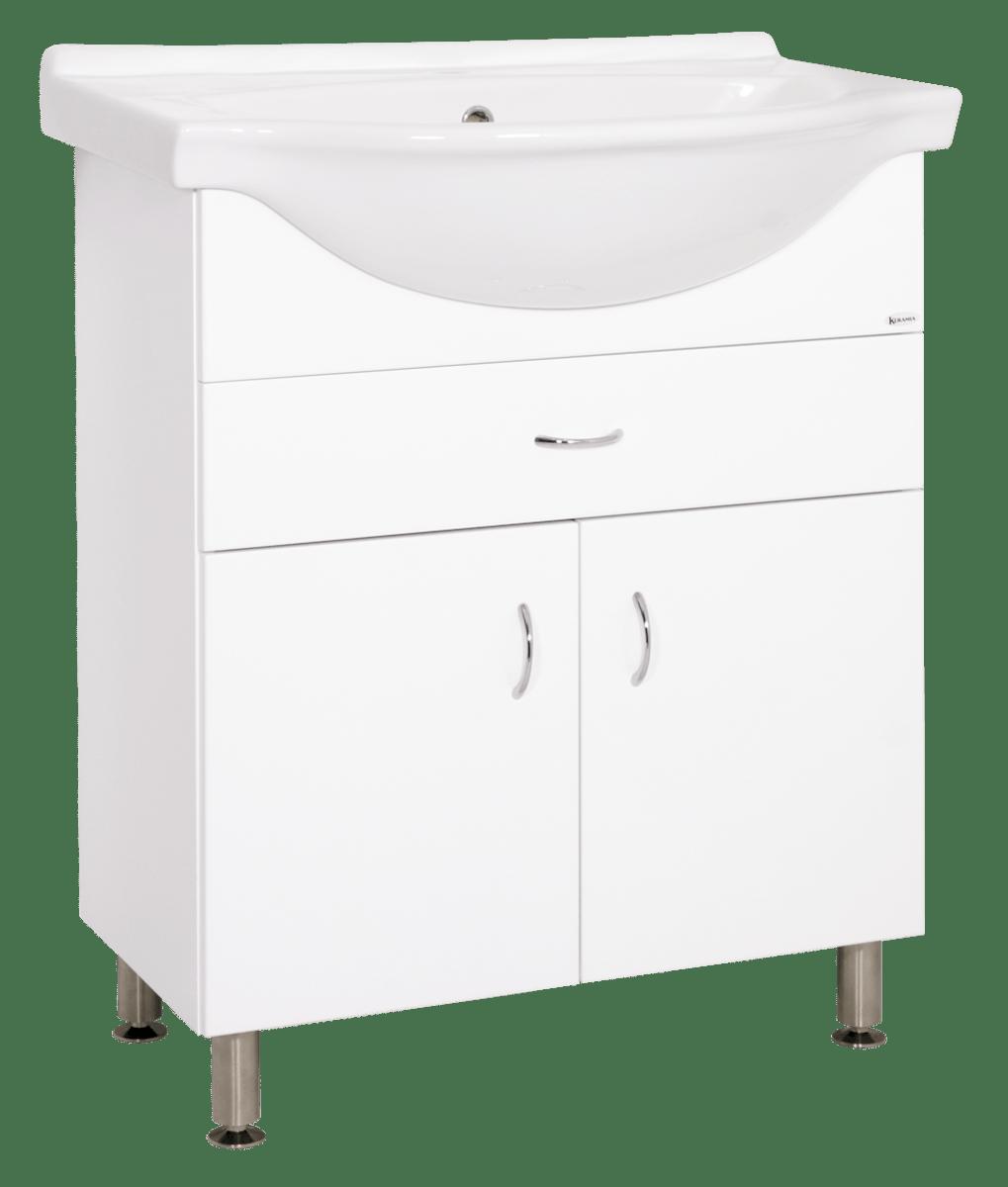 Kúpeľňová skrinka s umývadlom Keramia Pro 70x56 cm biela PRO70Z