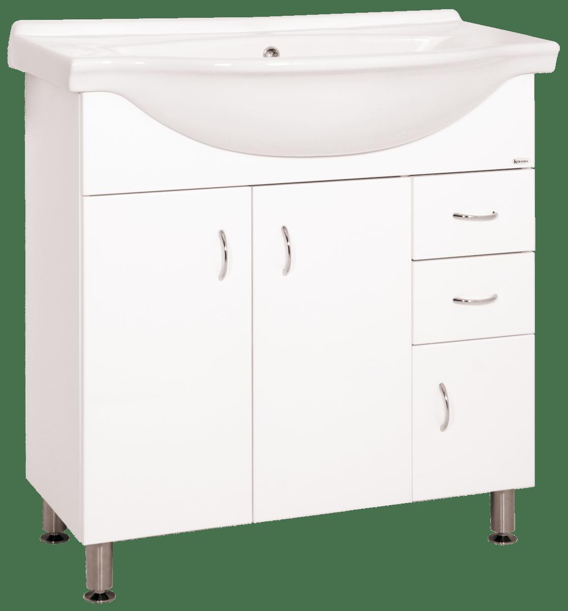Kúpeľňová skrinka s umývadlom Keramia Pro 80x50 cm biela PRO80DV