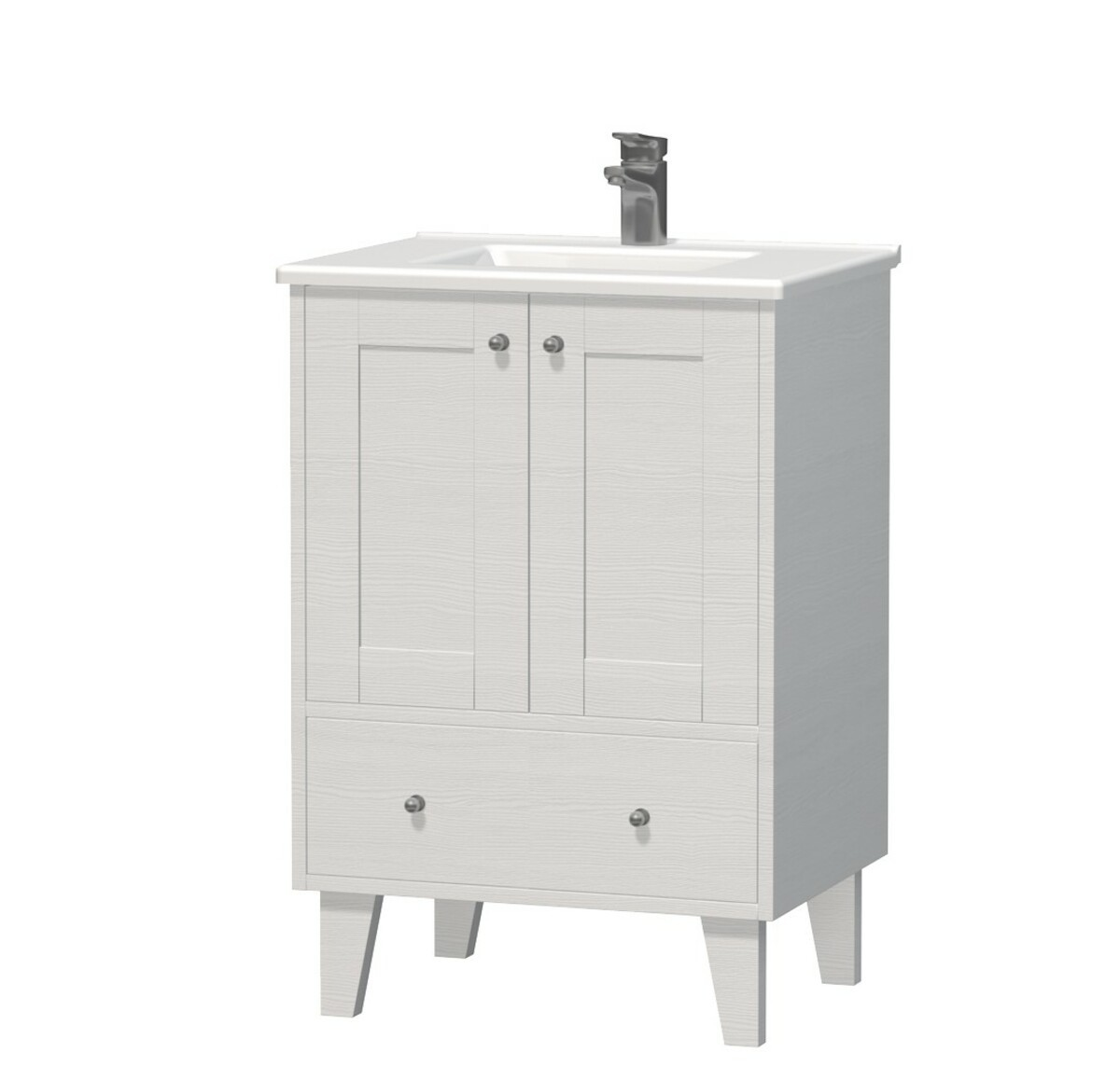 Kúpeľňová skrinka s umývadlom Naturel Provence 60x46 cm biela PROVENCE60BT