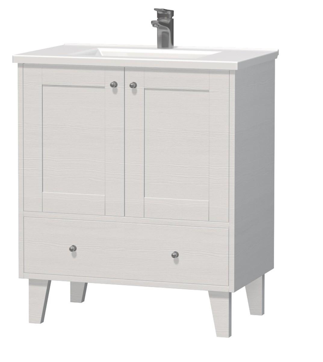 Kúpeľňová skrinka s umývadlom Naturel Provence 75x46 cm biela PROVENCE75BT