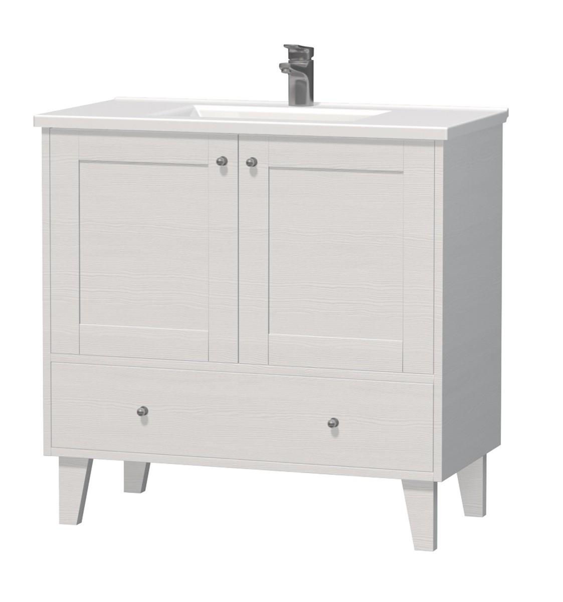 Kúpeľňová skrinka s umývadlom Naturel Provence 90x46 cm biela PROVENCE90BT