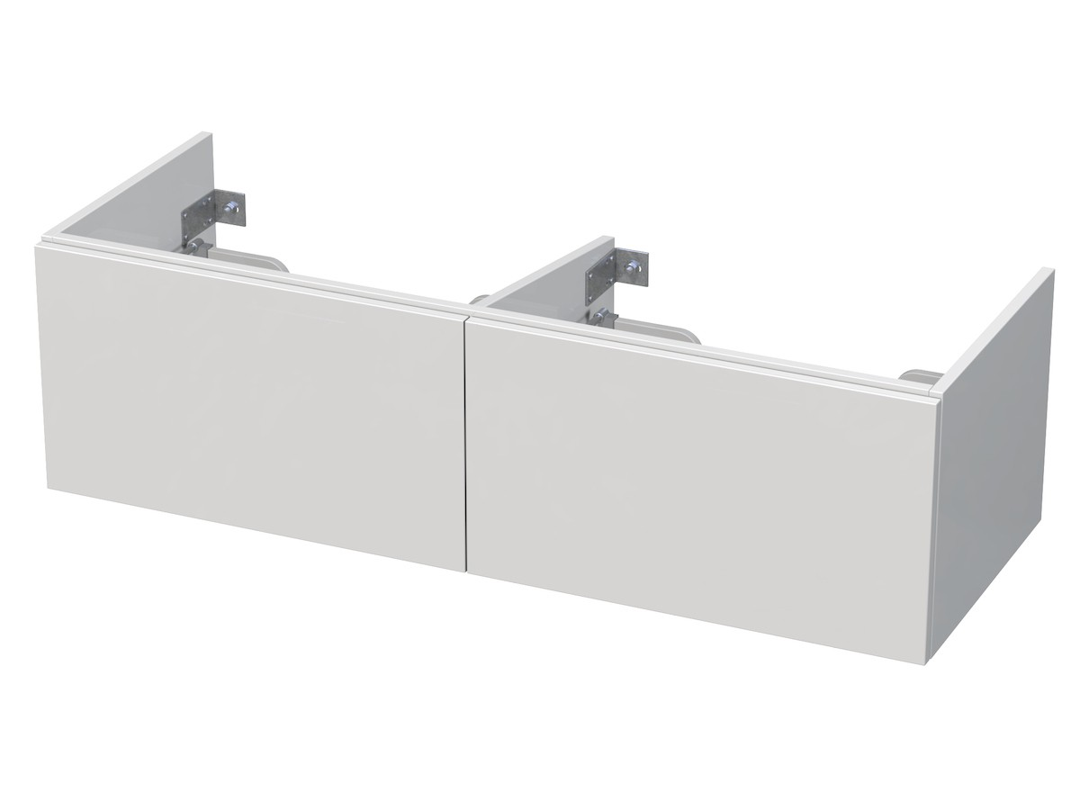 Kúpeľňová skrinka pod umývadlo Naturel Ratio 126x36x44 cm biela lesk PS130D2Z36PU.9016G
