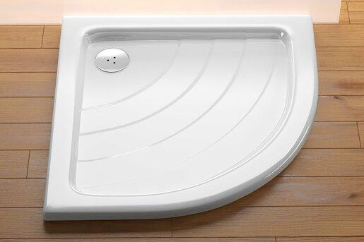Sprchová vanička štvrťkruhová Ravak Ronda 80x80 cm akrylát A214001220