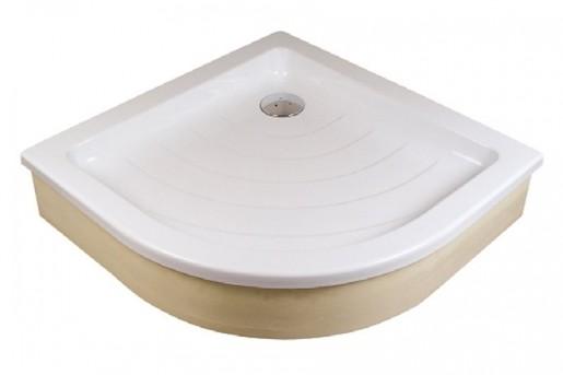 Sprchová vanička štvrťkruhová Ravak Ronda 90x90 cm akrylát A207001320