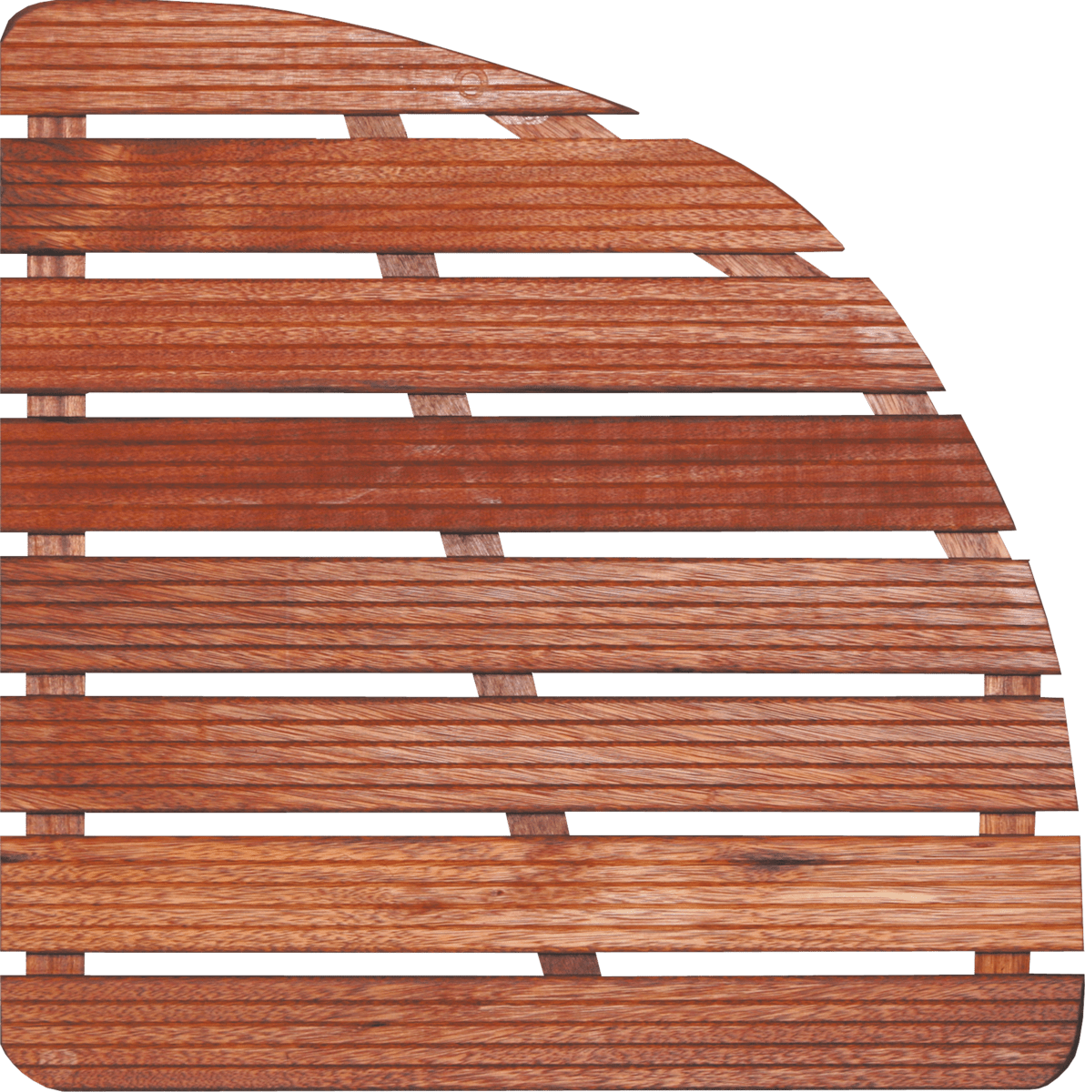 Sprchová rohož Aris drevo štvrťkruh 64x64x4cm ROHOZ80S