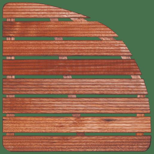 Sprchová rohož Aris drevo štvrťkruh 74x74x4cm ROHOZ90S
