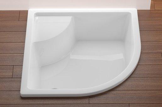 Sprchová vanička štvrťkruhová Ravak Sabina 80x80 cm akrylát A214001020