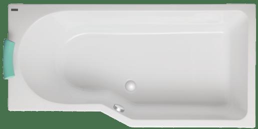 Asymetrická vaňa Laguna Beáta 160x80 cm akrylát SBE1600PHM