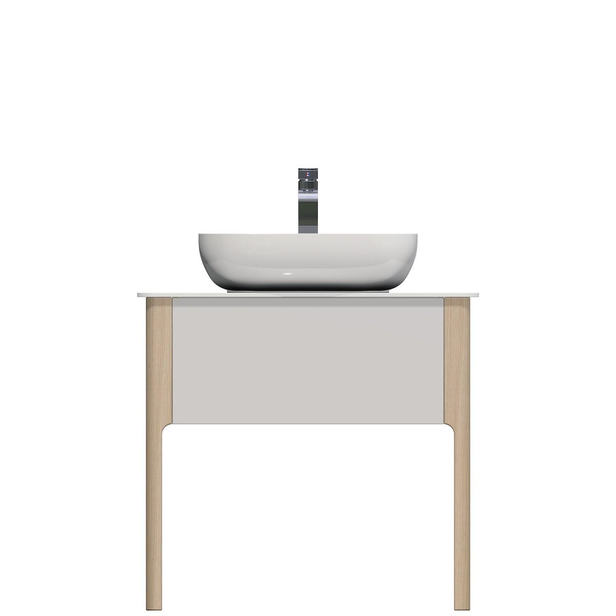 Kúpeľňová skrinka pod umývadlo Naturel Skandinavia 78x55 cm biela SCAN78.1Z.9016G