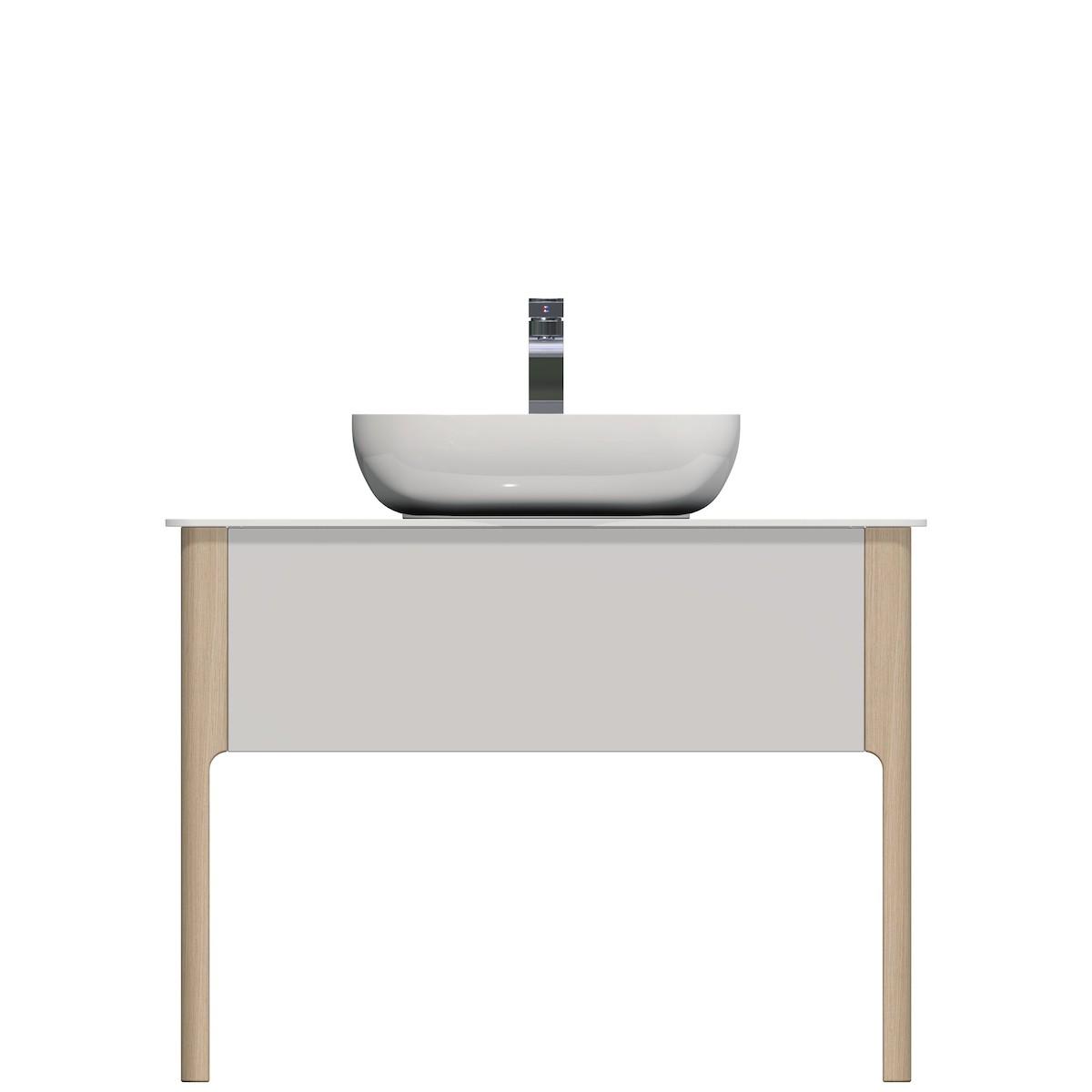 Kúpeľňová skrinka pod umývadlo Naturel Skandinavia 98x55 cm biela SCAN98.1Z.9016G