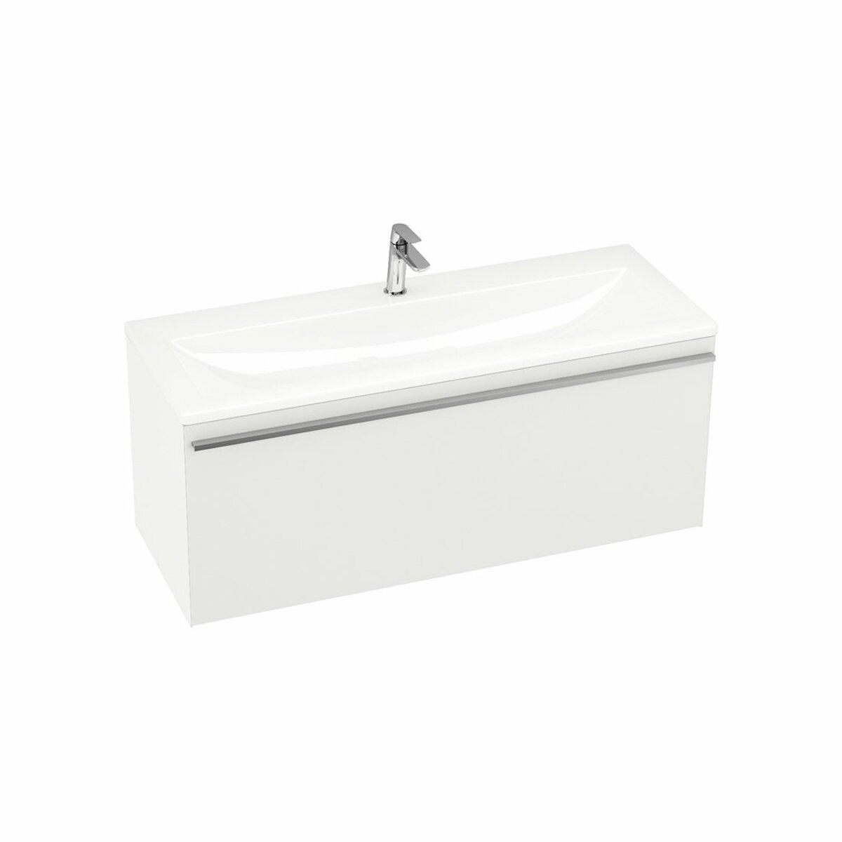 Kúpeľňová skrinka pod umývadlo Ravak Clear 100x38 cm biela X000000759