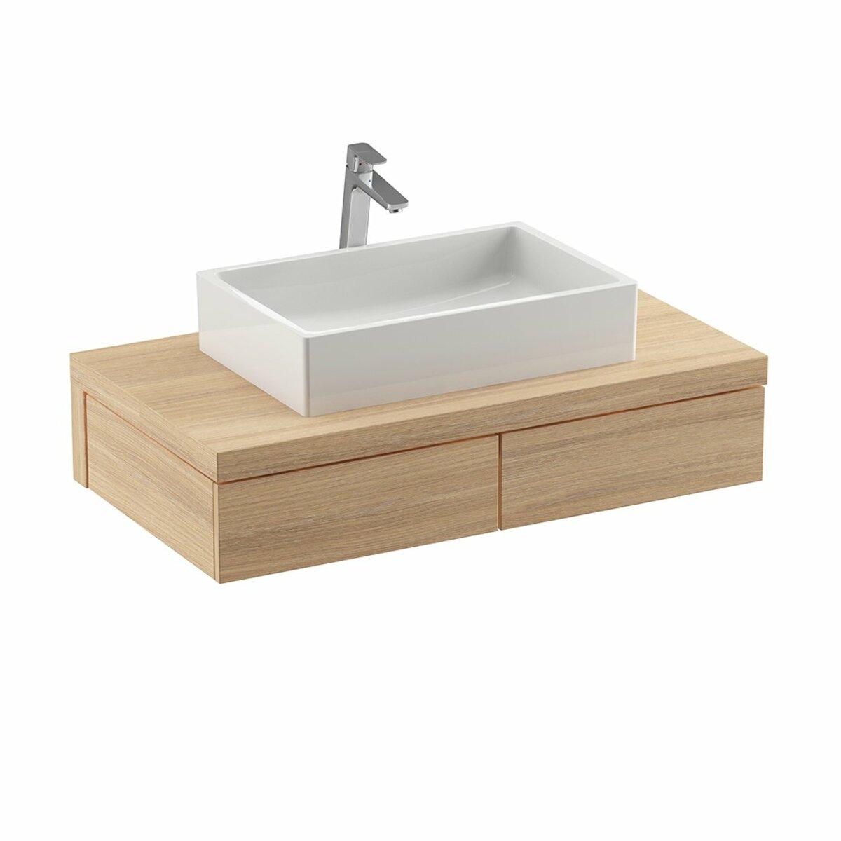 Kúpeľňová skrinka pod umývadlo Ravak Formy 100x55 cm dub X000001033