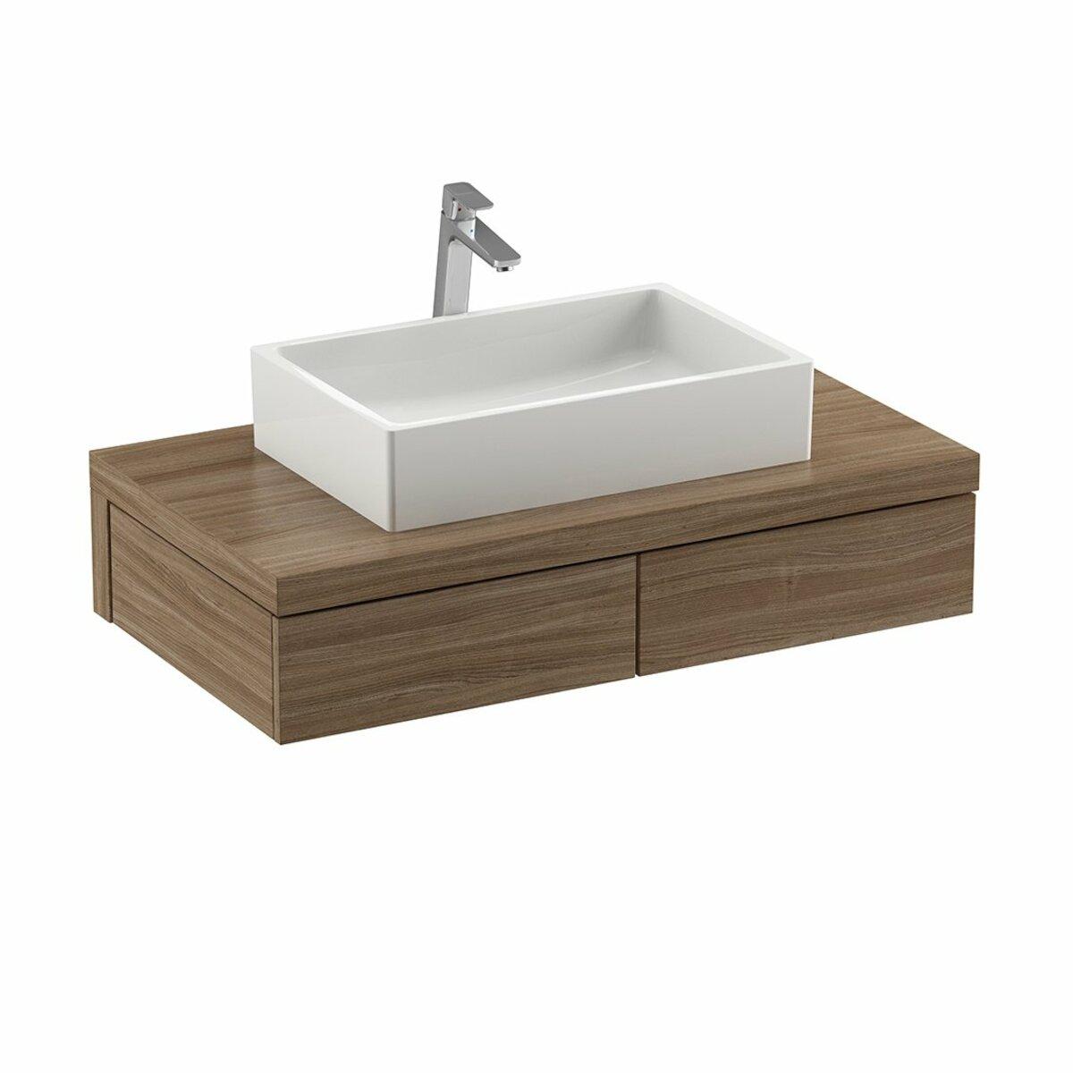 Kúpeľňová skrinka pod umývadlo Ravak Formy 100x55 cm orech X000001036