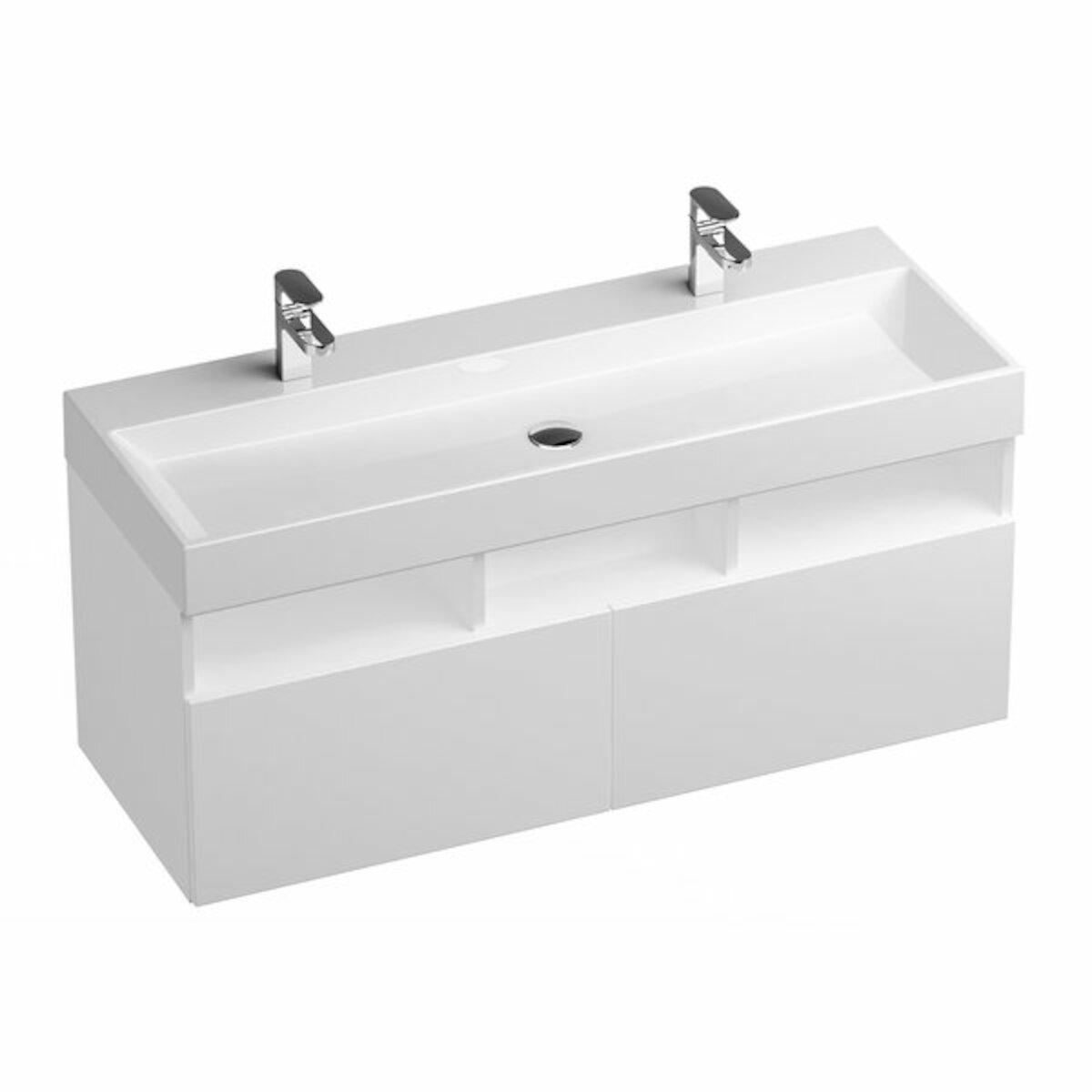 Kúpeľňová skrinka pod umývadlo Ravak Natural 45x45 cm biela X000001053