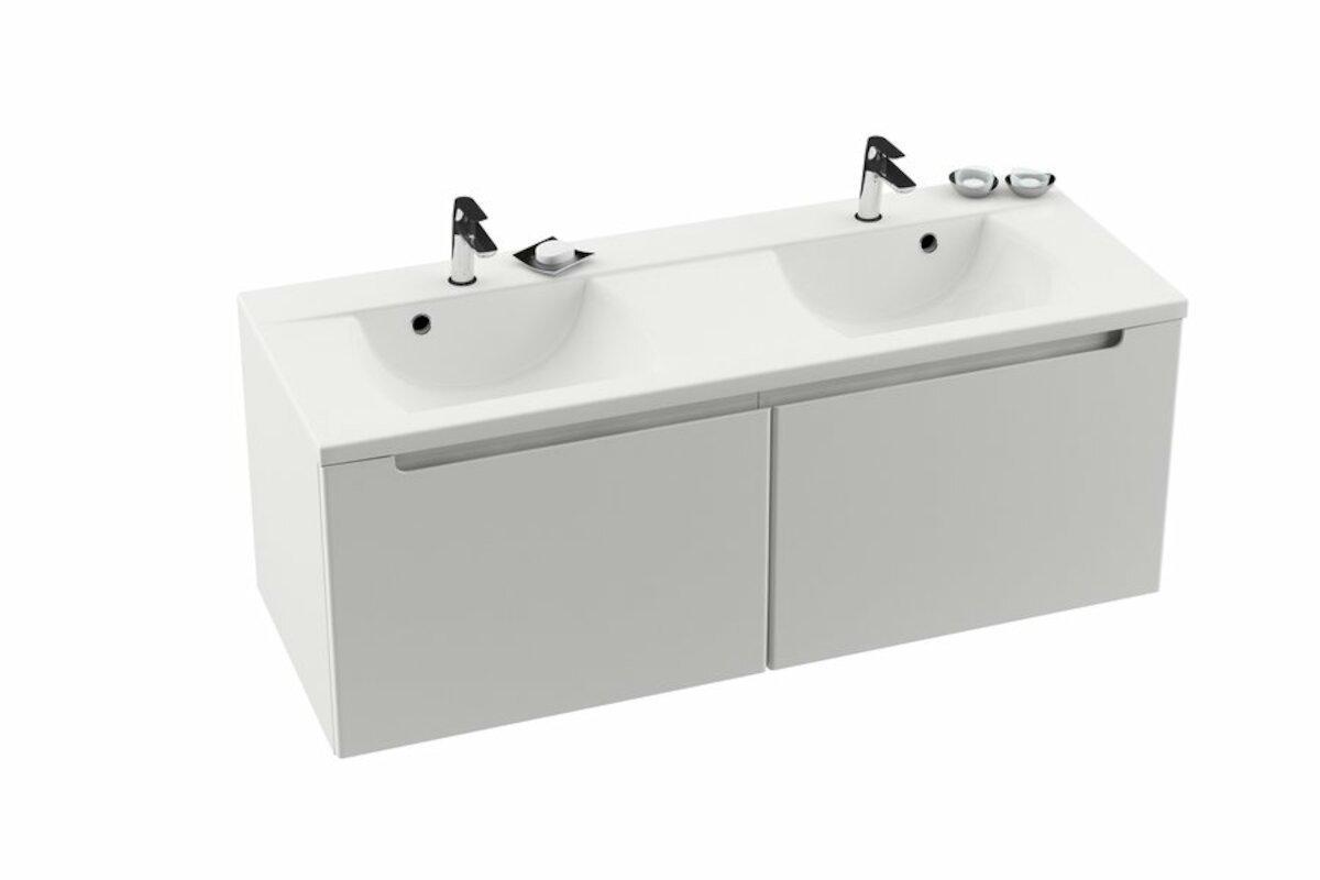 Kúpeľňová skrinka pod umývadlo Ravak Classic 130x49 cm biela X000000422