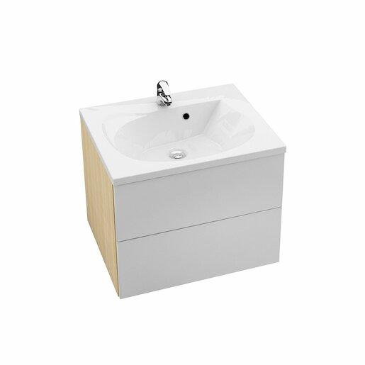 Kúpeľňová skrinka pod umývadlo Ravak Rosa 60x49 cm breza/biela X000000925