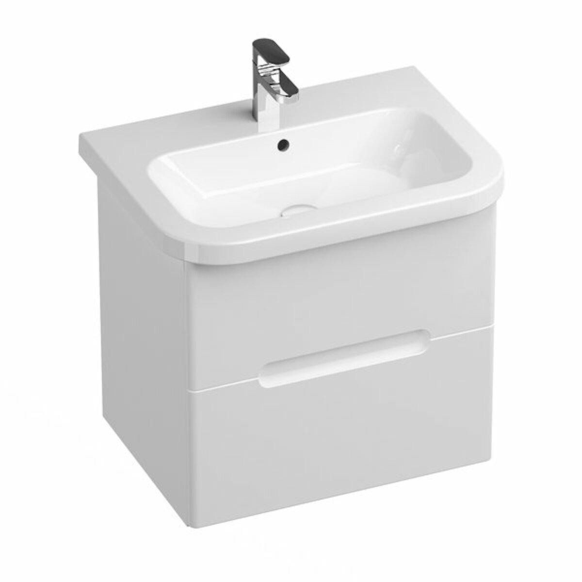 Kúpeľňová skrinka pod umývadlo Ravak chróme 59x42 cm biela X000001291