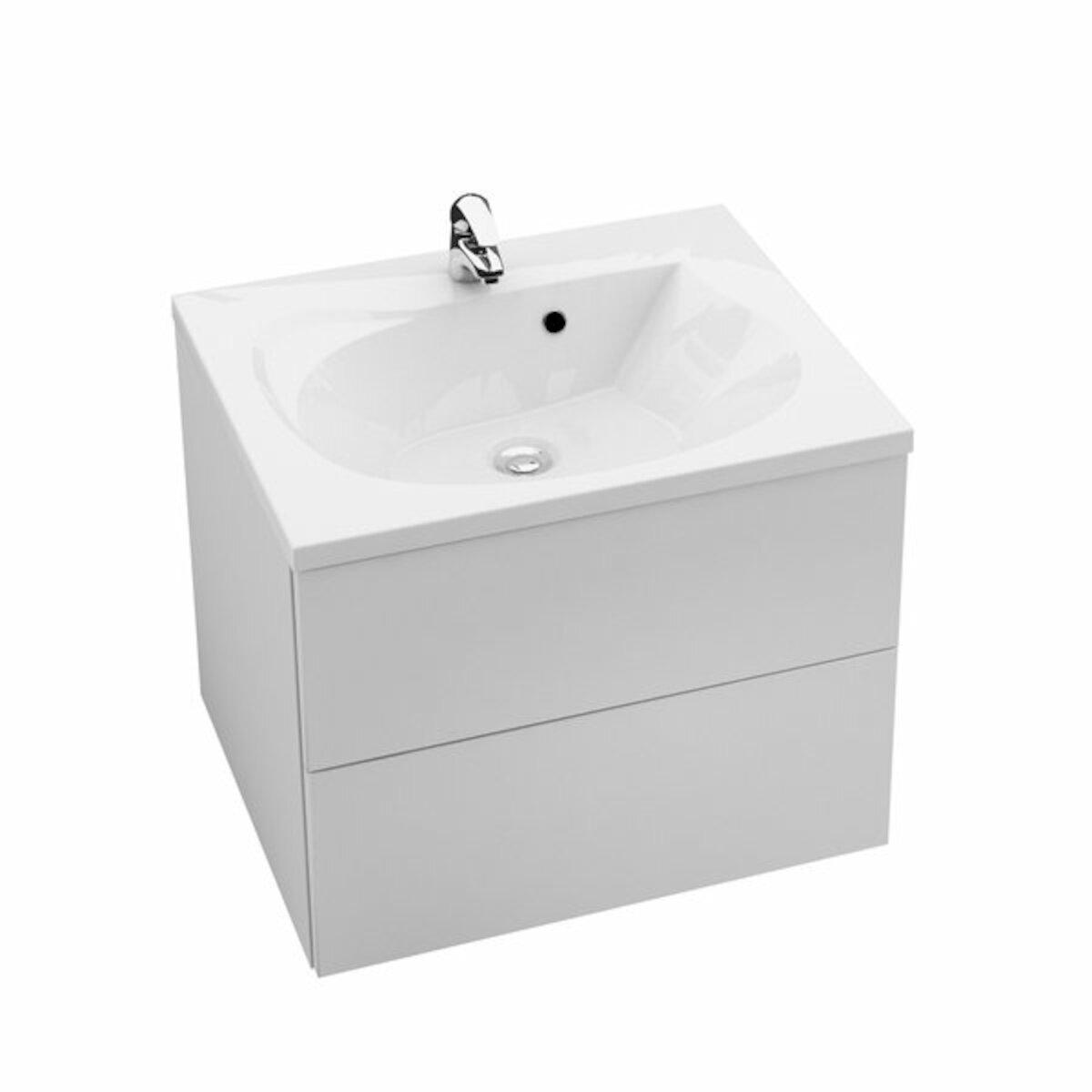 Kúpeľňová skrinka pod umývadlo Ravak Rosa 76x49 cm biela X000001293