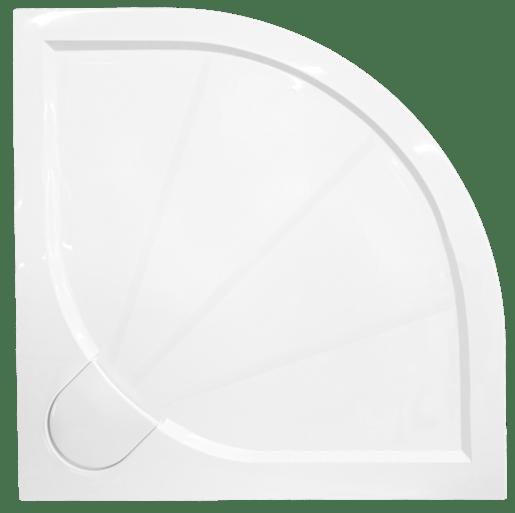 Sprchová vanička štvrťkruhová Siko Limcc 80x80 cm liaty mramor SIKOLIMCC80S