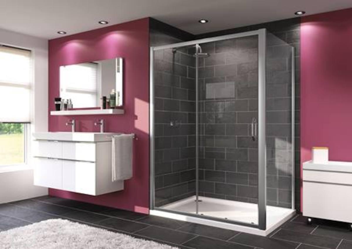 Sprchové dvere 100x80 cm Huppe Next SIKONEXTD2100STE80