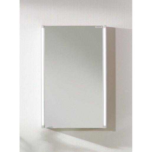 Zrkadlová skrinka s osvetlením Fackelmann 42,5x67 cm lamino biela SIKONF82951