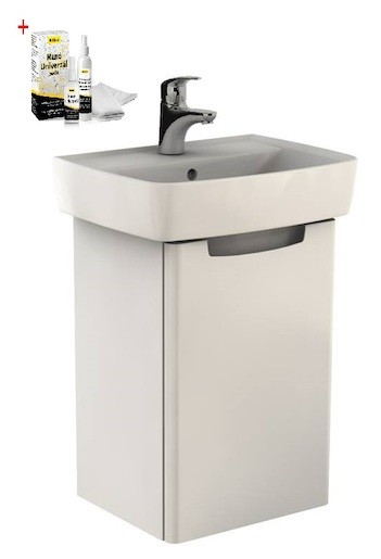 Kúpeľňová skrinka s umývadlom Kolo Rekord 50 cm biela SIKONKOR40BL