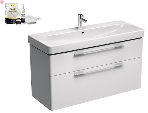 Kúpeľňová skrinka s umývadlom Kolo 120 cm biela SIKONKOT1120BL