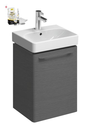 Kúpeľňová skrinka s umývadlom Kolo 45x36 cm dub šedý SIKONKOT45DS