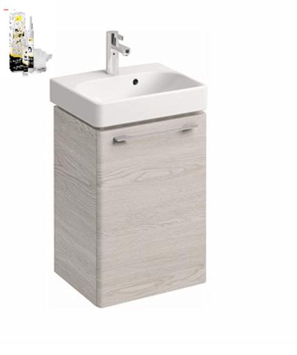 Kúpeľňová skrinka s umývadlom Kolo 45 cm jaseň bielený SIKONKOT45JB