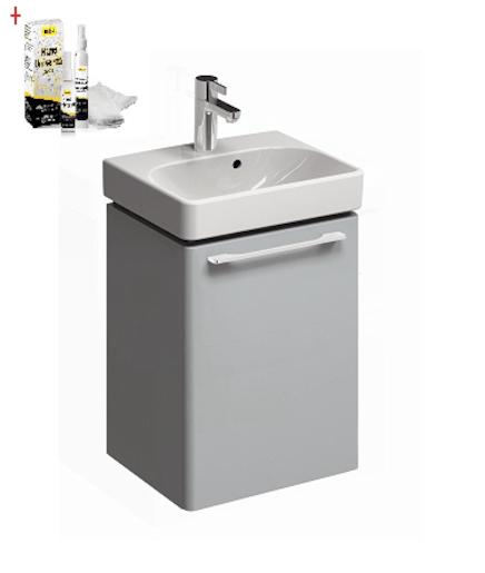 Kúpeľňová skrinka s umývadlom Kolo 45 cm platinová šedá SIKONKOT45PS