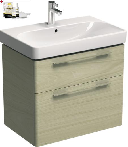 Kúpeľňová skrinka s umývadlom Kolo 75 cm jaseň bielený SIKONKOT75JB