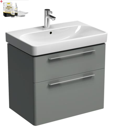 Kúpeľňová skrinka s umývadlom Kolo 75 cm platinová šedá SIKONKOT75PS