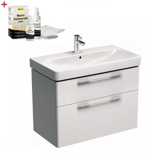 Kúpeľňová skrinka s umývadlom Kolo 90x48 cm biela SIKONKOT90BL