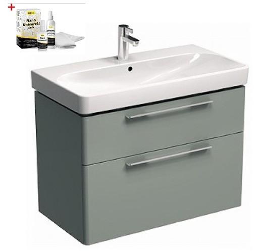 Kúpeľňová skrinka s umývadlom Kolo 90 cm platinová šedá SIKONKOT90PS