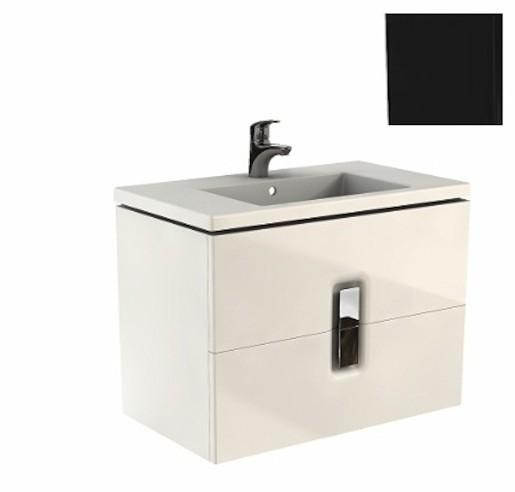Kúpeľňová skrinka s umývadlom Kolo Twins 80x57 cm čierna mat SIKONKOTW802CM