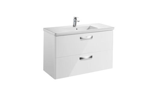 Kúpeľňová skrinka s umývadlom Roca The Gap 80x44x64,5 cm biela mat SIKONRGA000