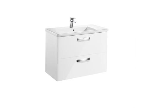 Kúpeľňová skrinka s umývadlom Roca The Gap 70x44x64,5 cm biela mat SIKONRGA100
