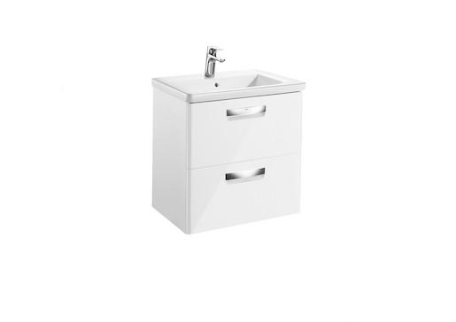 Kúpeľňová skrinka s umývadlom Roca The Gap 60x44x64,5 cm biela mat SIKONRGA200