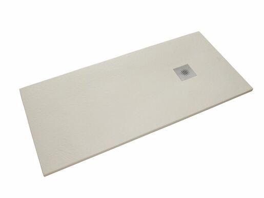 Sprchová vanička obdĺžniková Siko Stone 100x90 cm liaty mramor blanco SIKOSTONE10090SB