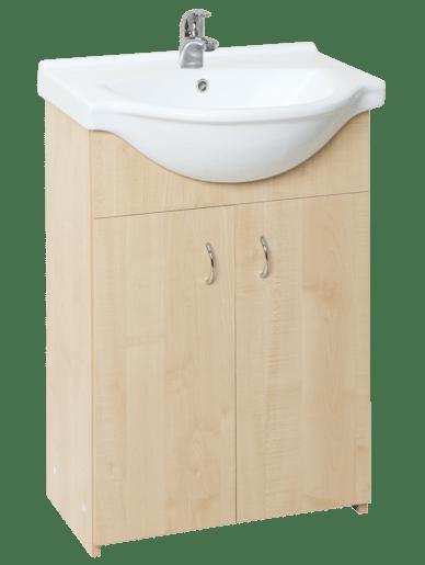 Kúpeľňová skrinka s umývadlom Multi Simple 55,5x42,4 cm breza SIMPLE55BR