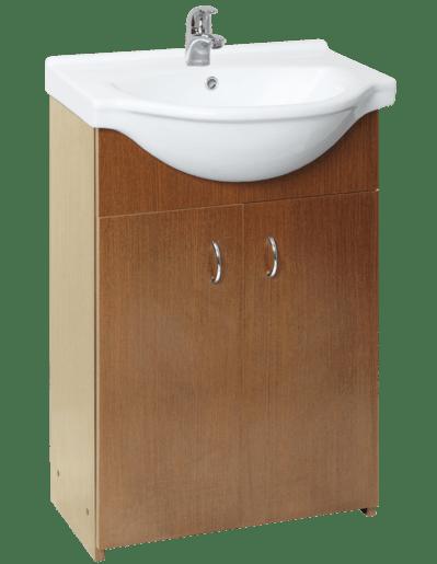 Kúpeľňová skrinka s umývadlom Multi Simple 55,5x42,4 cm orech SIMPLE55OR