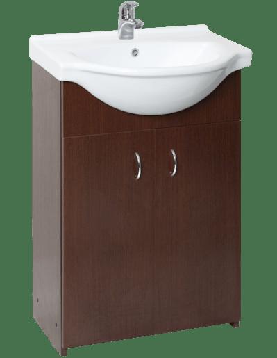 Kúpeľňová skrinka s umývadlom Multi Simple 55,5x42,4 cm wenge SIMPLE55WE