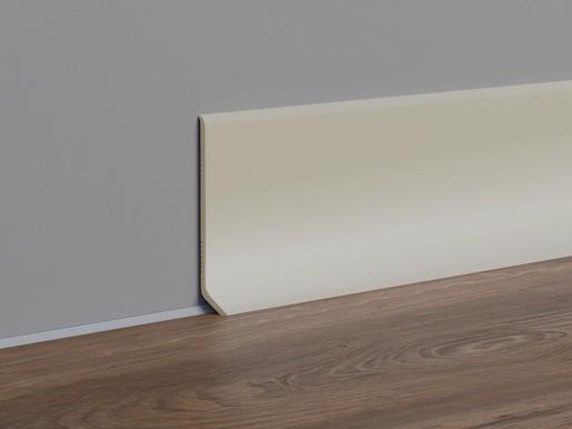Sokel PVC cappuccino, dĺžka 250 cm, výška 40 mm, SKPVCCA