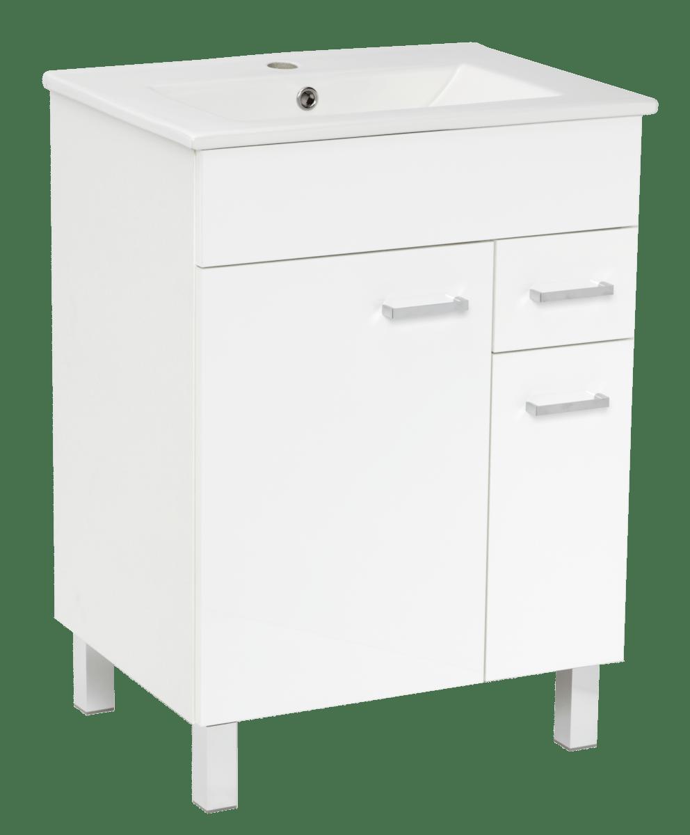 Kúpeľňová skrinka s umývadlom Multi 60x46 cm biela SPPONZA