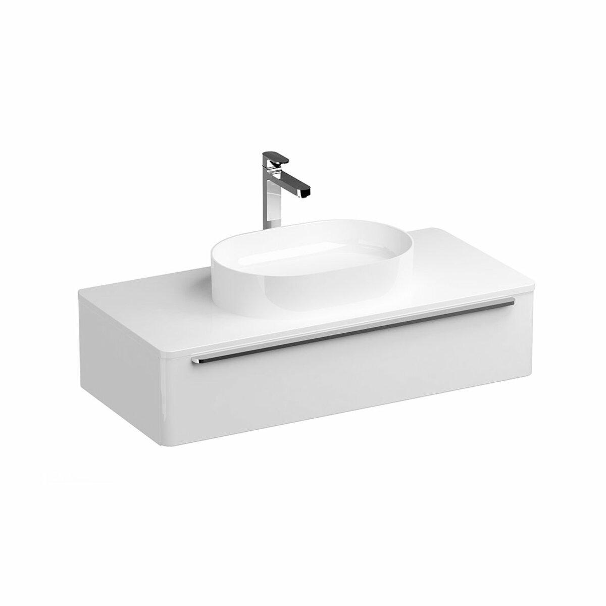Kúpeľňová skrinka pod umývadlo Ravak SUD 110x53 cm biela X000001082