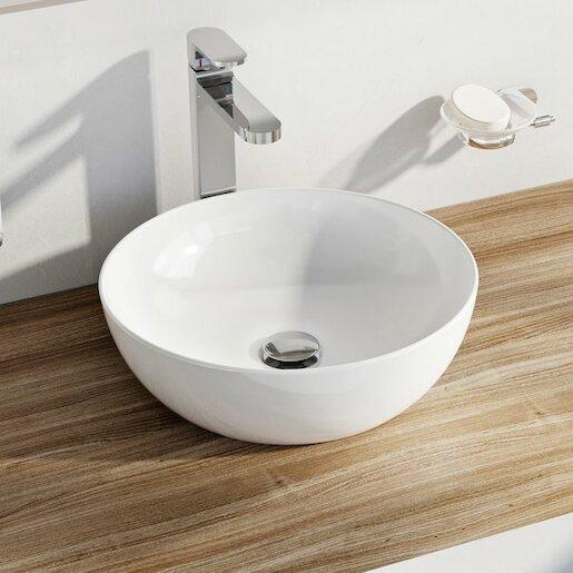 Umývadlo na dosku Ravak Uni 40x40 cm bez prepadu UNISLIMB400