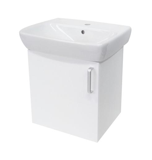 Kúpeľňová skrinka s umývadlom Naturel Vario Dekor 50x42 cm biela VARIO50BIBL